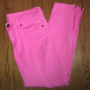 Hot pink J Crew toothpick jeans 🎀